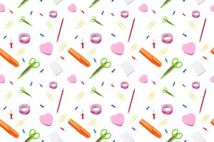Stationary tools seamless pattern,
