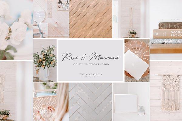 Templates: TwigyPosts - Rosé & Macramé - Styled Stock