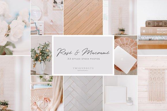 Rosé & Macramé - Styled Stock