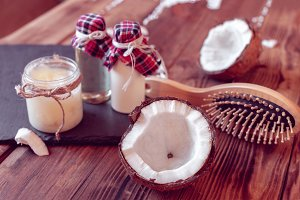Coconut products for hair care