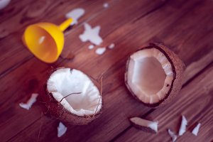 coconut and funnel