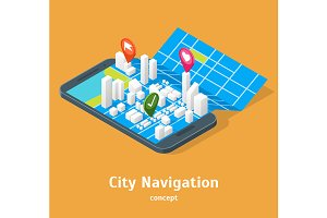 Mobile GPS City Navigation Maps