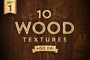 10 Wood Textures - Set 1