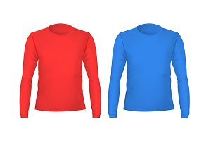 Template Blank Color T-shirts