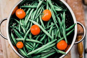 Food Stock Photo - The green beans
