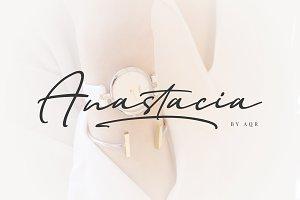 Anastacia Bold Signature Fonts