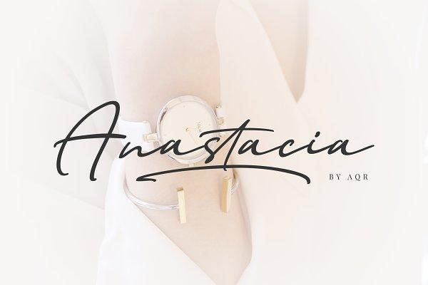 Fonts: AQR Typefoundry - Anastacia Bold Signature Fonts