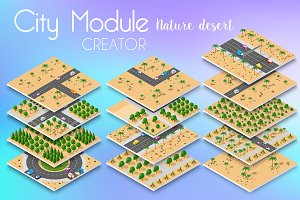 Vector desert natural landscape