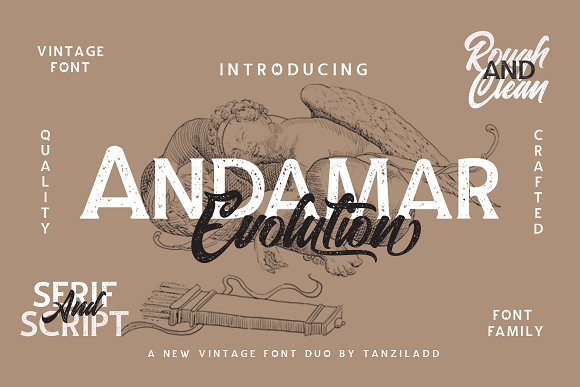 15% Off Andamar Font Family