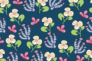 pattern from decorative naive flower