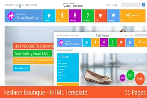 Fashion Boutique Responsive HTML