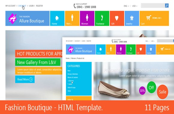 fashion boutique responsive html website templates creative market
