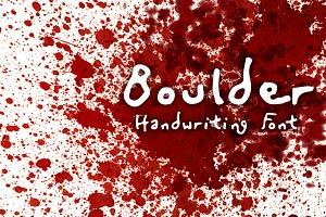 Murderino Boulder Ransom Killer Font