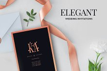 Elegant Wedding Invitations by  in Invitations
