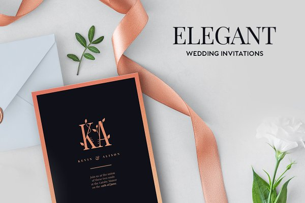 Invitation Templates: Tugcu Design Co. - Elegant Wedding Invitations