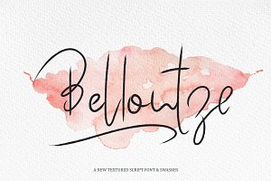 Bellontze.Textured script & swashes