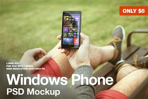 Windows Phone Mockup Lumia 830