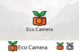 Eco Nature Camera Photography Logo