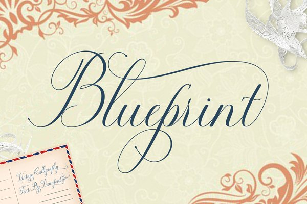Script Fonts: Danafont.co - Blueprint (50% OFF)