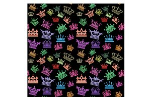 Crown, seamless pattern