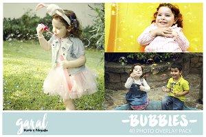 BUBBLES Photoshop Overlays