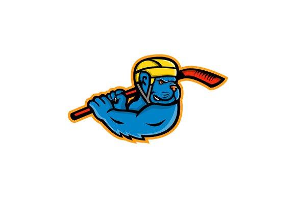 American Bully Ice Hockey Mascot