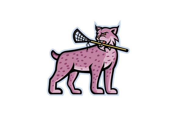 Bobcat or Lynx Lacrosse Mascot