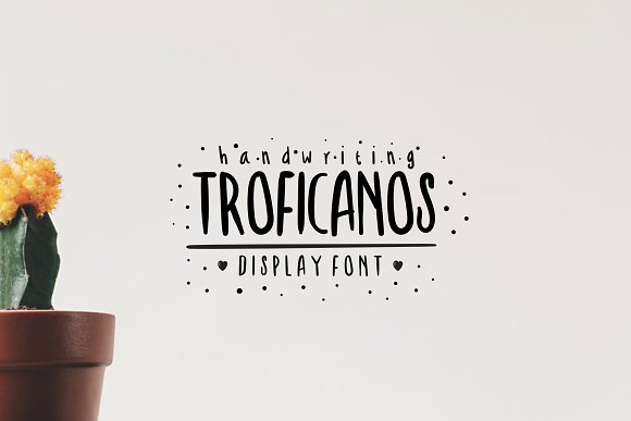 Troficanos Handwriting Display Font