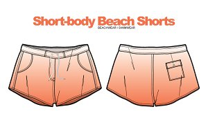 Woman Beach Shorts Clothing Vector