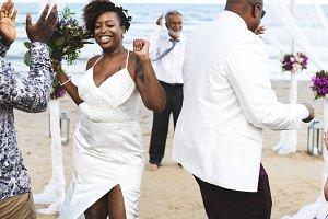 Wedding ceremony at the beach