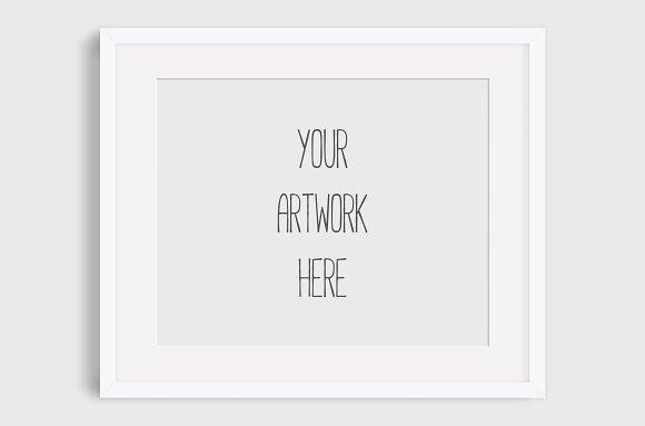 Simple white frame mockup ~ Product Mockups ~ Creative Market