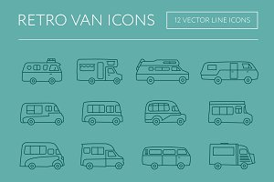 Retro Van Icons