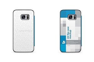 Samsung Galaxy S7 PU Flip Mobile Cas