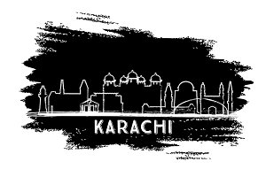 Karachi Pakistan City Skyline