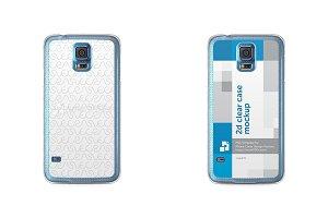 Samsung Galaxy S5 2d Clear Case
