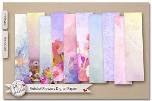 Field of Flowers Digital Paper