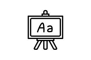 Web line icon. Blackboard black