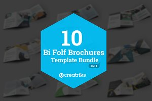 10 Bi Fold Brochures Bundle - Vol. 2