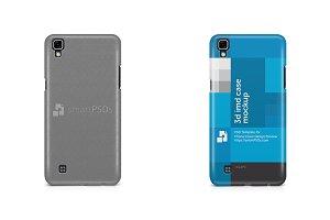 LG X Power 3d IMD Mobile Case Mockup