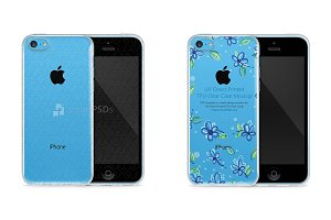 Apple iPhone 5C UV TPU Clear Mockup