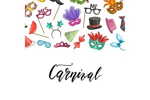 Vector masks and party accessories