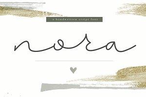 Nora - Handwritten Script Font