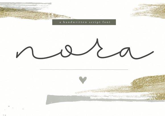 Nora Handwritten Script Font