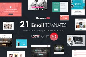 BUNDLE of 21 Email Templates -Triple