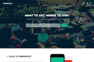 Pineapple - App Landing Page