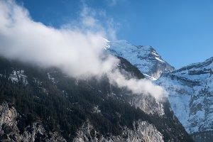 Mountain valley in the Switzerland