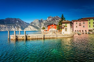 Toblino near lake Garda