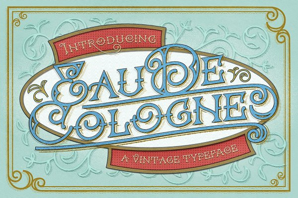 Display Fonts: Vintage Voyage Design Co. - Eau De Cologne