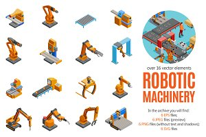 Robotic Machinery Isometric Set