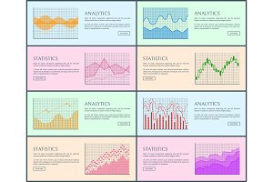 Analytics Statistic Collection Vector Illustration